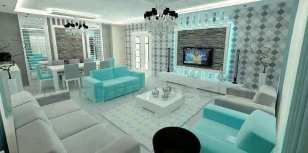 Turquoise Colorful Home Decor Models